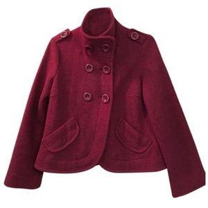 Military Swing Coat Peacoat Jacket Crop Wool